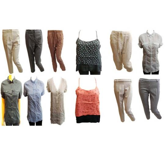 Wholesale Joblot of 100 Ladies De-Branded Blouses & Trousers Assorted Styles