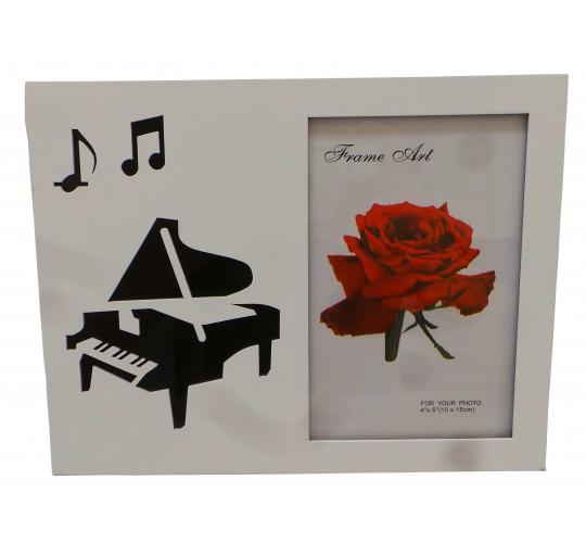 "Wholesale Joblot of 20 Musical Piano White Photo Frames 4"" x 6"""
