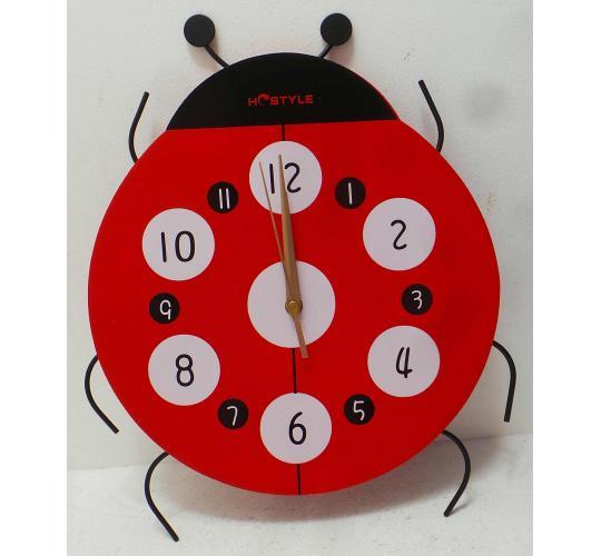 One Off Joblot of 10 Childrens Creative Lady Bird Wall Clocks