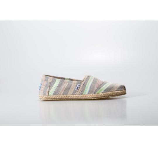Toms Classic Canvas Stripe Espadrille Shoes Washed/Multi-color