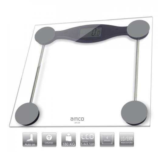 BULK BUY 9 x amco Ultra Slim Electronic Bathroom Scales, Tampered Glass, LED Display,Kg/Lb/St