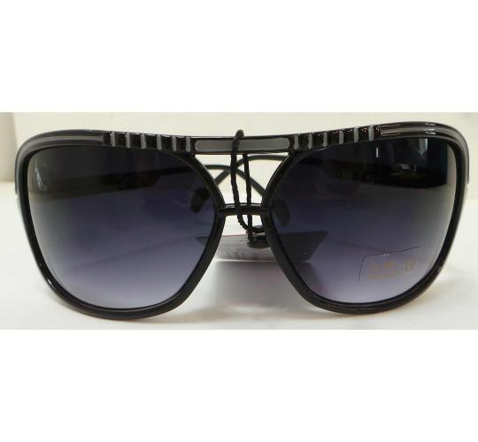 Wholesale Joblot Of 20 Rectangular Black & Grey Stripe Sunglasses