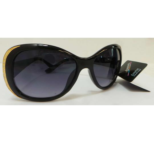 Wholesale Joblot Of 20 Bling Black Sunglasses With Gold Glitter Ends SG-233