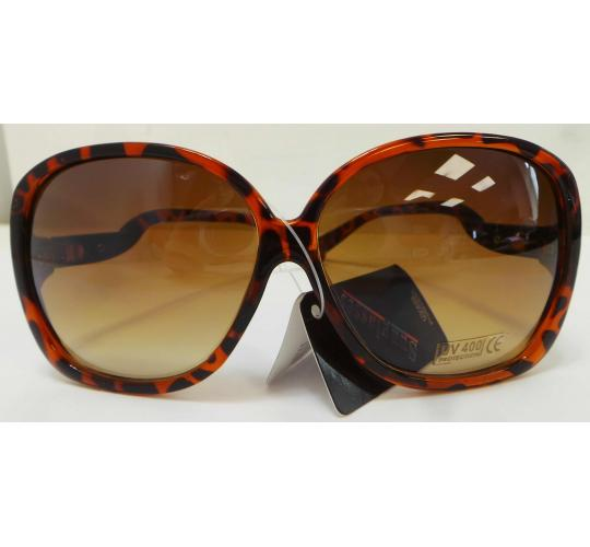 Wholesale Joblot Of 20 Oversized Tortoiseshell And Silver Sunglasses SG-201