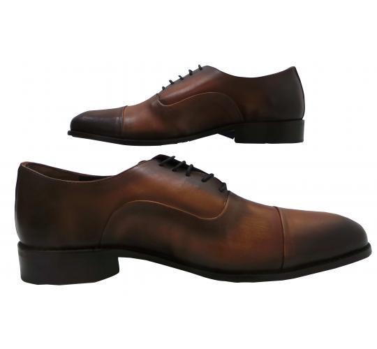 Wholesale Joblot of 5 Mens Tag1 London Patina Leather Formal Shoes Tan A1