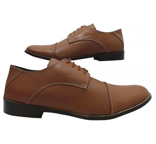 One Off Joblot of 11 Mens Tag1 London High Quality Leather Smart Shoes Tan L-002