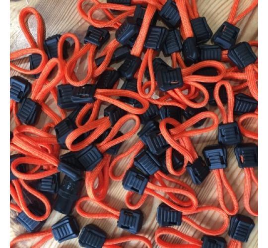 Paracord Orange Cord Zip Pull Zipper JOB LOT