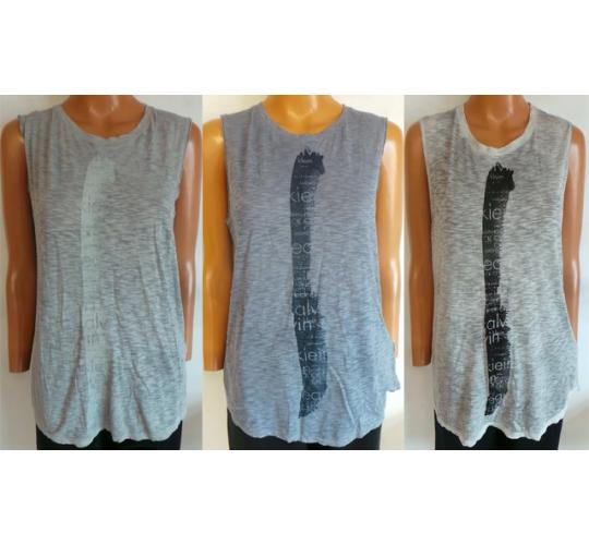 One Off Joblot of 6 Calvin Klein Ladies Sleeveless T-Shirts 3 Colours Sizes S-XL