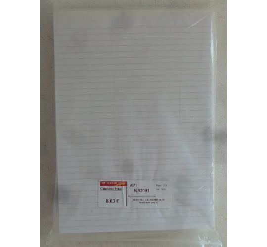 Wholesale Joblot of 100 Q-Connect Memo Pad A4 80 Leaf Ruled Feint KF32001