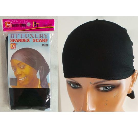 Wholesale Joblot of 50 Spandex Head Cover Wraps Black