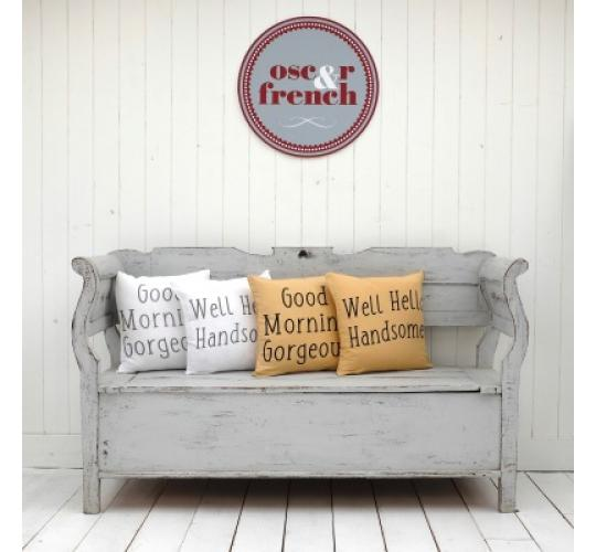 slogan cushion covers - very on trend!