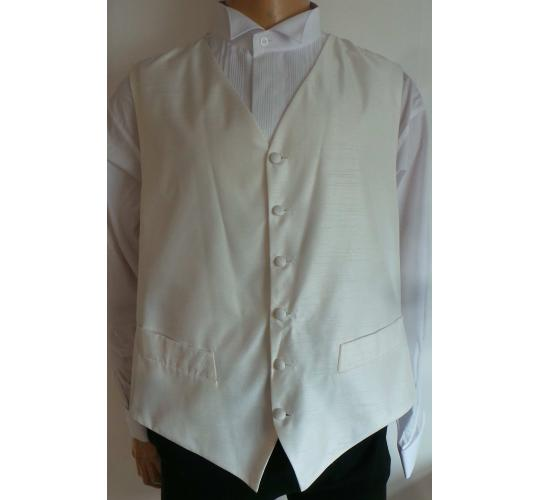 One Off Joblot of 14 Mens Beau Monde Ivory Faint-Stripe Waistcoats