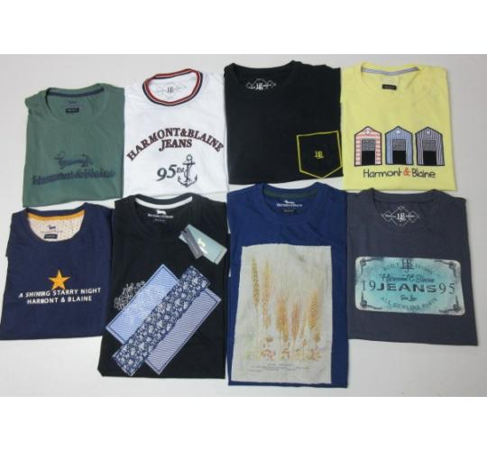 Wholesale Joblot of 50 Harmont & Blaine Mens T-Shirts Mixed Styles & Colours