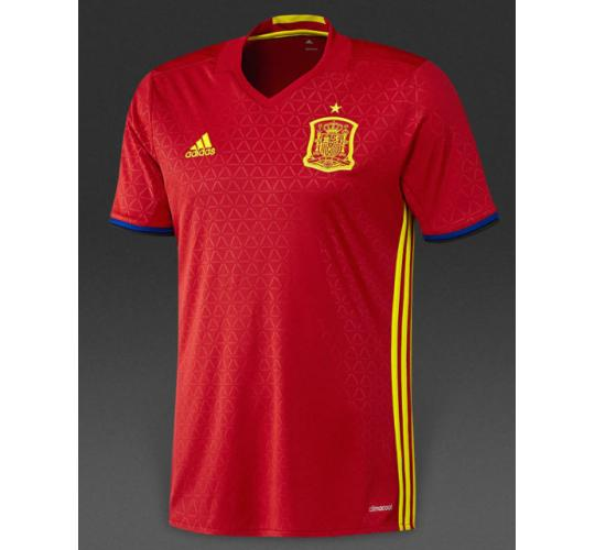 Joblot of 20 FEF Spain Home Adidas Football Shirt 2016/17 AI4411