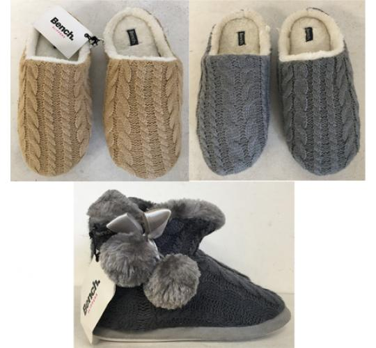 One Off Joblot of 31 Bench Womens Slippers Mixed Styles Sizes S-L
