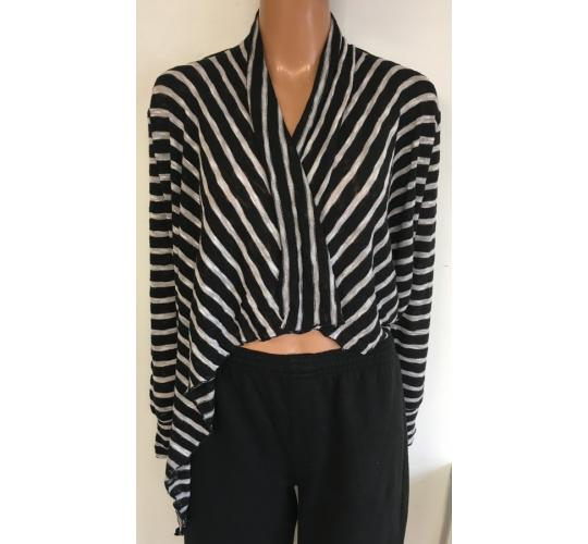 Wholesale Joblot of 10 Avon Womens Mono Stripe Waterfall Cardigans 2 Sizes