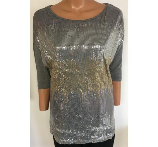 Wholesale Joblot of 10 Avon Womens Zig Zag Sequin T-Shirt Size 10/12