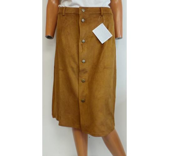 Wholesale Joblot of 10 Avon Suede Look Button Skirts Tan Sizes 6-12 18/20