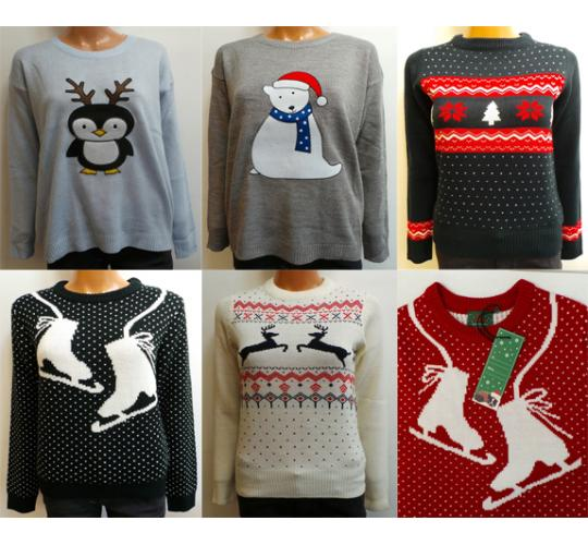Wholesale Joblot of 10 Brave Soul Womens Christmas Jumpers Mixed Styles
