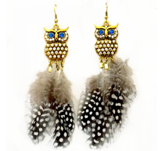 Wholesale 30PCS Owl Feather Earrings - Clearance - Must go! - 006