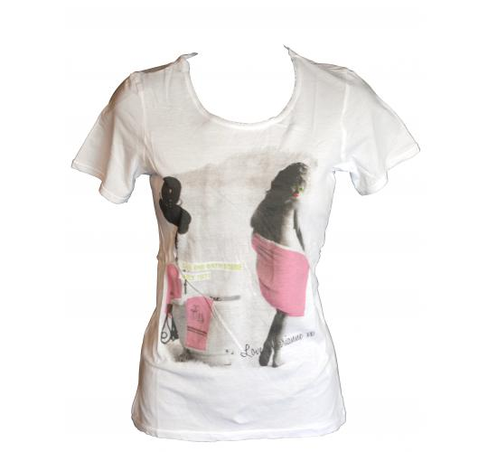 "CRIMINAL LADIES ""TART"" WHITE PRINT SHORT SLEEVE T-SHIRT"