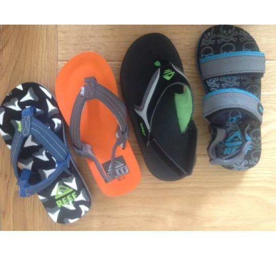 Childrens Reef flip flops mixed styles and sizes