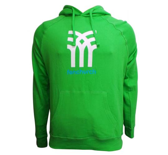 Wholesale Joblot of 10 Fenchurch Mens Icon Logo Hoodies Green Sizes XS-XL