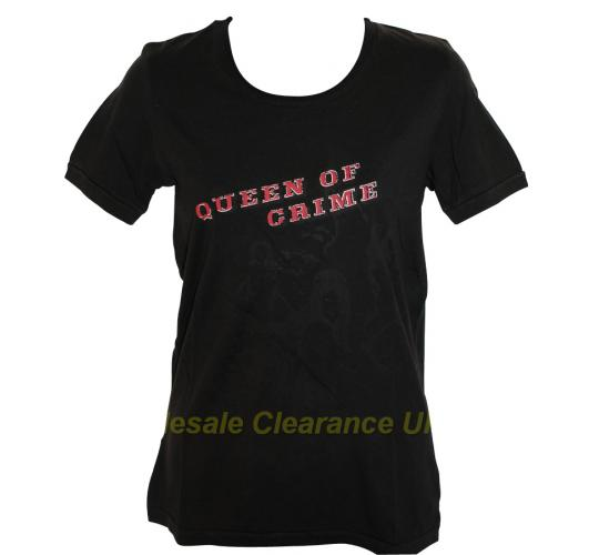 CRIMINAL LADIES QUEEN OF CRIME BLACK T-SHIRT