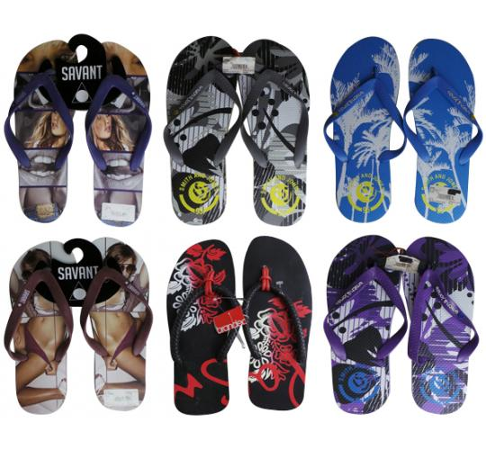 Joblot of 23 Mixed Mens Branded Flip Flops - Smith & Jones and Savant Mixed Size