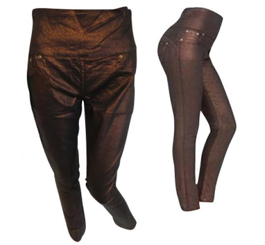 Wholesale Joblot of 10 Avon Womens Metallic Jeggings Bronze Size 8/10
