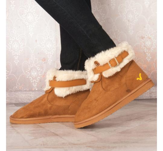 Wholesale Joblot of 5 Voi Jeans Womens Alesia Fold Winter Boots Chesnut