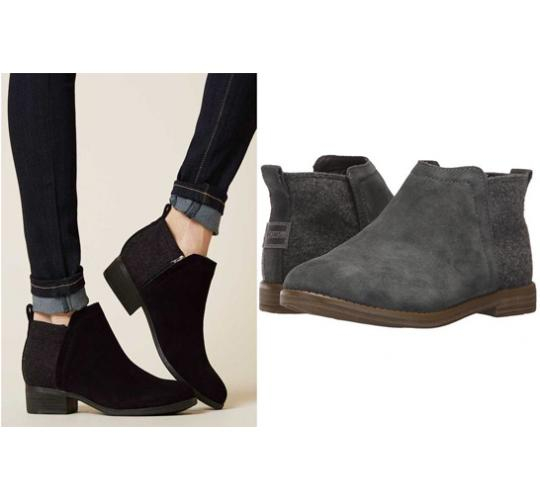 One Off Joblot of 6 TOMS Womens Suede Boots 2 Styles Majority Deia Black/Grey