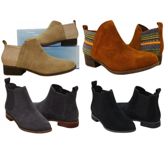One Off Joblot of 5 TOMS Womens Ella & Deia Boots Mixture of Colours