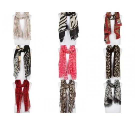 100 Animal Print Scarves