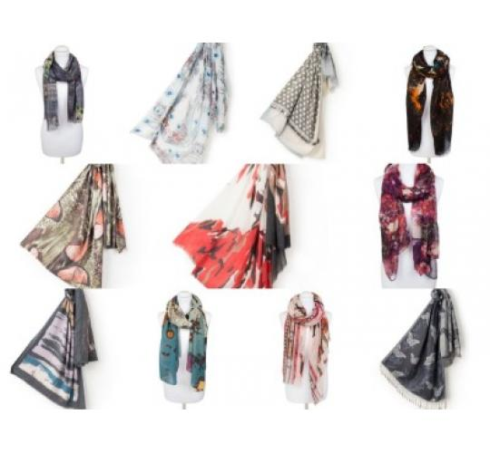 65 Digital Print Scarves
