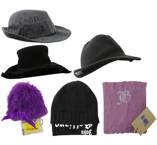 One Off Joblot of 10 John Galliano Childrens Hats & Scarfs Mixed Styles