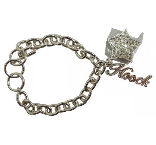 Joblot of 20 Hooch Silver Link Star Pendant Bracelets (HCJ0009SL)