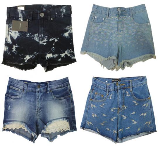 One Off Joblot of 11 Womens Mixed Denim Shorts - Dr Denim, Mixed Message & More