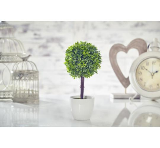Artificial Topiary Tree Plant Garden Buxus Boxwood in Pot P57