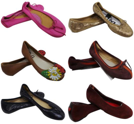 One Off Joblot of 8 Dolce & Gabbana Girls Flats Mixed Styles Sizes 10 & 12