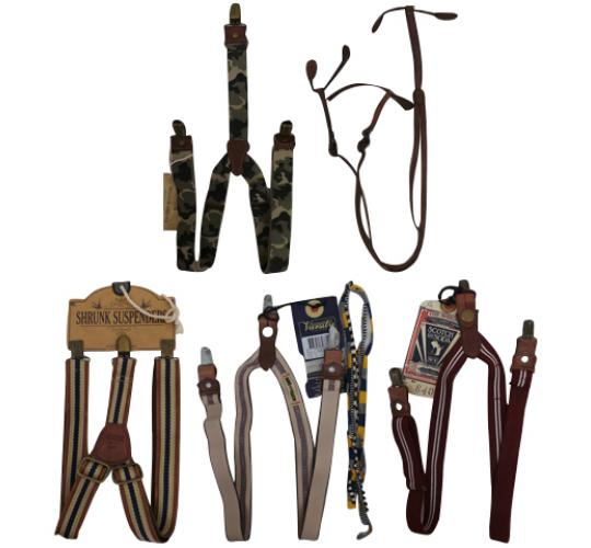 One Off Joblot of 13 Scotch Shrunk Boys Braces/Suspenders Assorted Styles