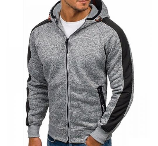 Men's Striped Sleeve Hoodie x 15