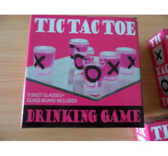 Joblot of 24 x Tic Tac Toe Glass Drinking Game - Mini Noughts & Crosses - Shot Glasses - Party Novelty Fun - Mini Drinking Party - Alcohol Fun Glass S