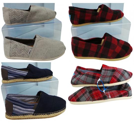 One Off Joblot of 5 TOMS Mens Alpargatas 4 Styles Sizes 7.5-9