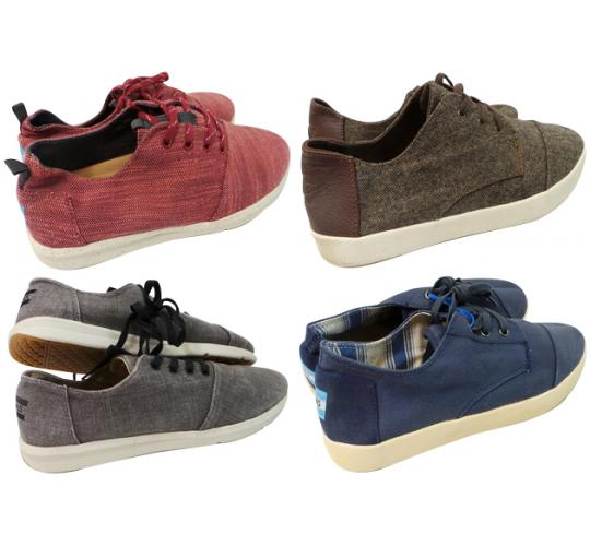 One Off Joblot of 4 TOMS Mens Trainers/Sneakers 4 Styles Sizes 8-11