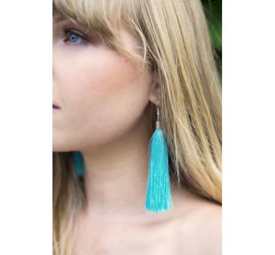 Joblot 925 Sterling Silver Tassel Earrings and Lava Stone Mala Necklaces