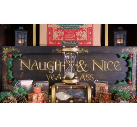 Naughty and Nice Year Glass