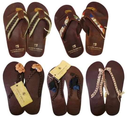 One Off Joblot of 6 Scotch R'Belle & Scotch Shrunk Childrens Flip Flops