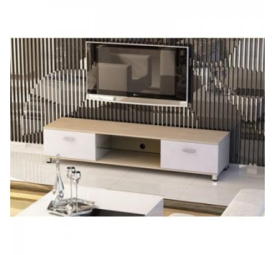 Slim Low Rise Painted Wood Effect TV Stand for TV sizes 32 to 70 inches