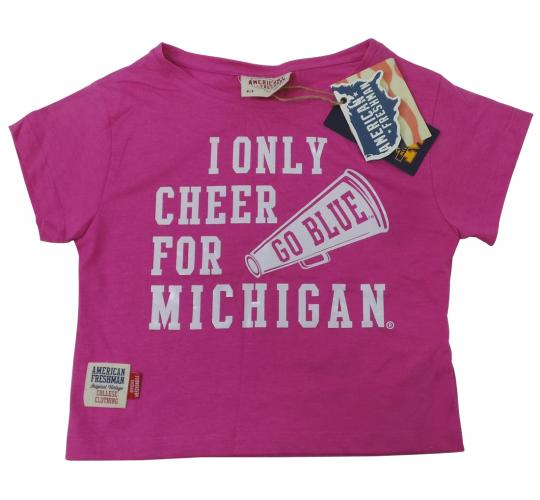 Wholesale Joblot of 10 American Freshman I Only Cheer For Michigan Girls T-Shirt